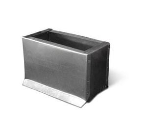 4 in. Galvanized Steel Saddle in Rectangular Duct SHMSPSP10U