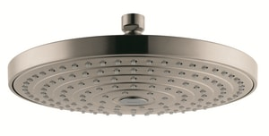 Hansgrohe Raindance Dual Function Rain and Rain Air Showerhead in Brushed Nickel H04720820