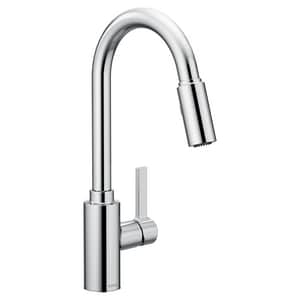 Moen Genta 1 5 Gpm 1 Hole Deck Mount Kitchen Sink Faucet