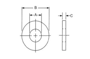 FNW 1-3/4 x 5/8 in. Carbon Steel Flat Washer 50 Pack FNWFLWZ58