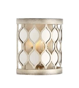 Park Harbor® Camberley 7-7/8 in. 60W 1-Light Wall Sconce in Antique Silver Leaf PHWL3241ASL