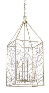 Park Harbor® Lake Forest 60W 4-Light Pendant in Antique Silver Leaf PHPL6269ASL