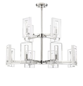 Park Harbor® Forest Heights 60W 12-Light Chandelier in Polished Stainless Steel PHHL6392POSS