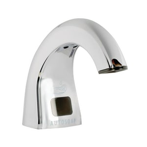 Rubbermaid OneShot® Deck Mount Electric Soap Dispenser in Polished Chrome RFG402073