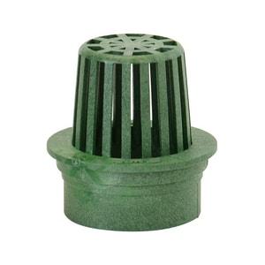 NDS 3 in. Flat Top Polyolefin Atrium Grate Green N70
