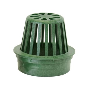 NDS 4 in. Atrium Grate for 4 in. Corrugated Pipe Green N75