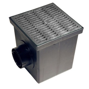 NDS 9-3/8 in. Catch Basin Kit with Grate N900BLKIT