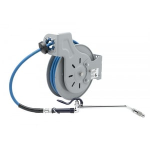 T&S Brass 3/8 in. x 35 ft. Open Hose Reel with Extended Spray Wand in Coated Steel TB723210