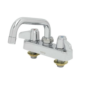 T&S Brass Equip 5.03 gpm 2 Hole Deck Mount Institutional Workboard Faucet with Double Lever Handle and 6 in. Swing Nozzle in Polished Chrome T5F4CLX06