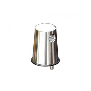 T&S Brass 3/8 in. Turret with 180 Degree Outlets TBL410202