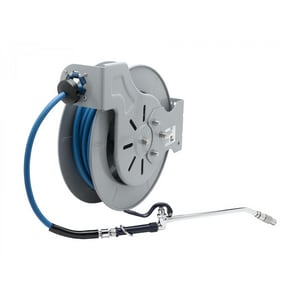 T&S Brass 3/8 in. x 15 ft. Open Hose Reel with Spray Wand in Epoxy Coated Steel TB721210