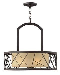 Fredrick Ramond Nest 100W 3-Light Medium E-26 Base Pendant Chandelier in Oil Rubbed Bronze FFR41613ORB