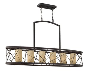 Fredrick Ramond Nest 75W 6-Light Medium E-26 Base Chandelier in Oil Rubbed Bronze FFR41616ORB