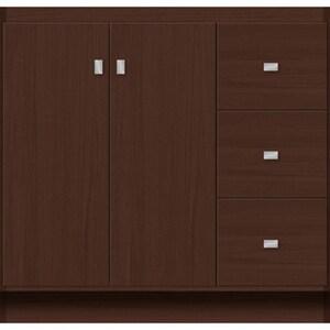 Strasser Woodenworks Montlake View 36 in. Chocolate Oak Vanity with Right Hand Drawer 34-1/2 x 21 in. STR24823