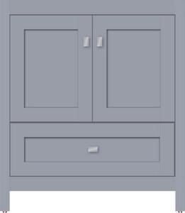 Strasser Woodenworks Alki Essence 30 x 21 x 34-1/2 in. Floor Mount Vanity with 4-Drawer in Satin Silver STR51956