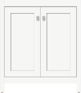 Strasser Woodenworks Alki View 30 x 21 x 34-1/2 in. Floor Mount Vanity with 3-Drawer in Satin White STR52766