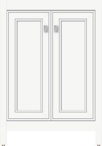 Strasser Woodenworks Alki View 24 x 21 x 34-1/2 in. Floor Mount Vanity with 1-Drawer in Satin White STR53273