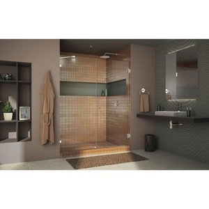 DreamLine Unidoor Lux 58 in. Frameless Hinged Shower Door with Clear Glass in Oil Rubbed Bronze DSHDR2358721006