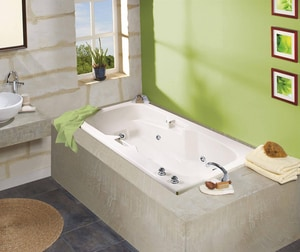Lopez 66-1/4 x 35-3/4 in. Drop-In Bathtub with End Drain in White M100074000001000