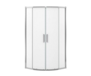 Radia 36 x 36 in. Drop-In Bathtub with Right Drain in Chrome M137444981084000