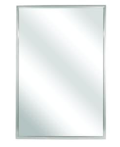 Bradley Corporation BradEx® Framed Bathroom Mirror in Satin Stainless Steel B740018300