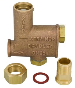 Bradley Corporation Stop Strainer, Check Valve Kit for Use with Wash Fountains in Gold BS60003S
