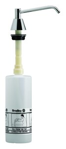 Bradley Corporation BradEx® 6 in. 16 oz. Stainless Steel Spout Lavatory Mount Soap Dispenser B6326000000