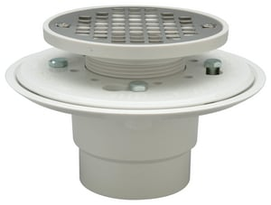 Zurn LC® 2 - 3 in. Push On Plastic White Shower Drain ZFD2254PV2