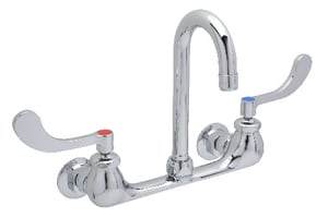 Zurn AquaSpec® 3-Hole Lavatory Faucet with Double Wristblade Handle in Polished Chrome ZZ831A4XL3F