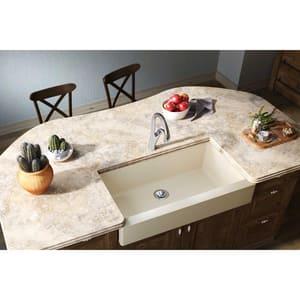 Elkay Quartz Luxe® 35-7/8 x 20-15/16 in. Composite Single Bowl Apron Front Kitchen Sink in Parchment EELXUFP3620PA0