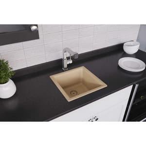 Elkay Quartz Classic® 1-Bowl Dual Mount Bar Sink in Sand EELG1616SD0