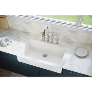 Elkay Quartz Luxe® 35-7/8 x 20-15/16 in. Composite Single Bowl Apron Front Kitchen Sink in Ricotta EELXUFP3620RT0