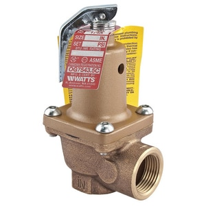 Watts Series 174A 1 in. Bronze FNPT 110# Relief Valve W174A110G
