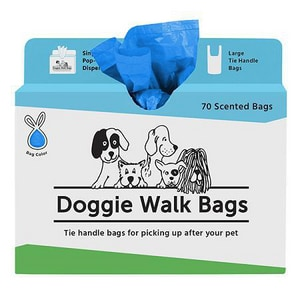 Doggie Walk Bags Scented Bag with Handle in Blue 30 Pack DOG070