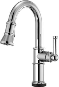 Brizo Artesso® Single Handle Pull Down Kitchen Faucet in Polished Chrome D64925LF