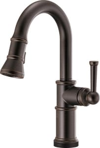 Brizo Artesso Single Handle Pull Down Kitchen Faucet in Venetian Bronze D64925LFRB