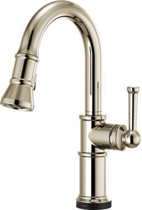 Brizo Artesso® Single Handle Pull Down Kitchen Faucet in Polished Nickel D64925LFPN