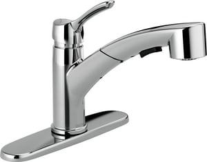 Delta Faucet Collins™ 10-3/8 in. 1.8 gpm 1 or 3-Hole Kitchen Sink Faucet with Single Lever Handle in Polished Chrome D4140DST