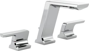 Delta Faucet Pivotal™ Two Handle Widespread Bathroom Sink Faucet in Polished Chrome D3599LFMPU