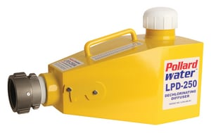 Pollardwater LPD-250 Aluminum Dechlorinator and Diffuser, Yellow, 2-1/2 in. FNST inlet PLPD250ALUM at Pollardwater