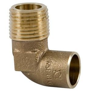 3/4 x 1/2 in. Copper x MNPT 90 Degree Elbow CCM9LFFD