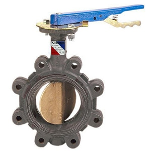 NIBCO LD-5022 Series 3 in. Ductile Iron EPDM Locking Lever Handle Butterfly Valve NLD50223M