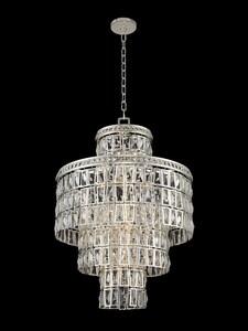 Kalco Lighting Kasturi 24 in. 40W 13-Light Candelabra E-12 Pendant in Silver A033251014FR001