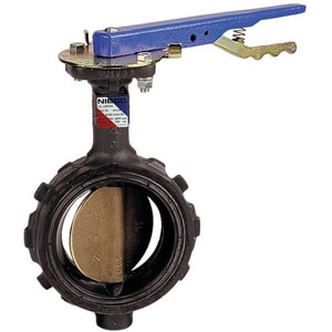 WD-2100 Series Ductile Iron Buna-N Locking Lever Handle Butterfly Valve NWD21003