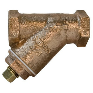 NIBCO T-221-A 1/2 x 1/2 x 1/2 in. Bronze Threaded 20 Mesh with Plug Strainer NT221AJ