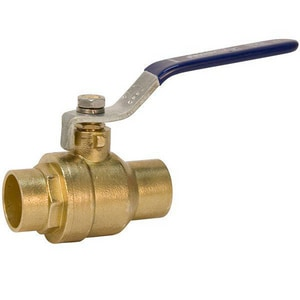 Nibco S-FP-600A Forged Brass Full Port Solder 400# Ball Valve NSFP600