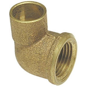 1/2 x 1/4 in. Copper x Female Brass 90 Degree Reducing Adapter Elbow CCF9DB
