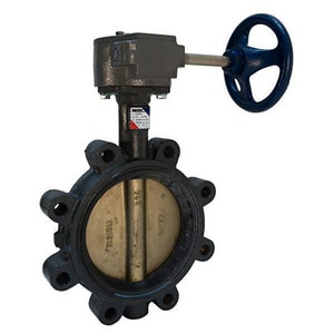 Nibco LD-2000 Series Ductile Iron EPDM Gear Operator Handle Butterfly Valve NLD20005