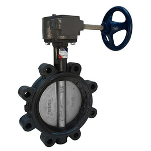 NIBCO LD-3222 Series 8 in. Ductile Iron Fluoroelastomer Locking Lever Handle Butterfly Valve NLD32223X