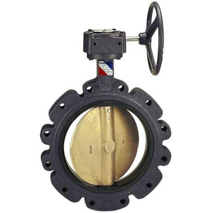 NIBCO LD-1010 Series 24 in. Ductile Iron EPDM Gear Operator Handle Butterfly Valve NLD1010524